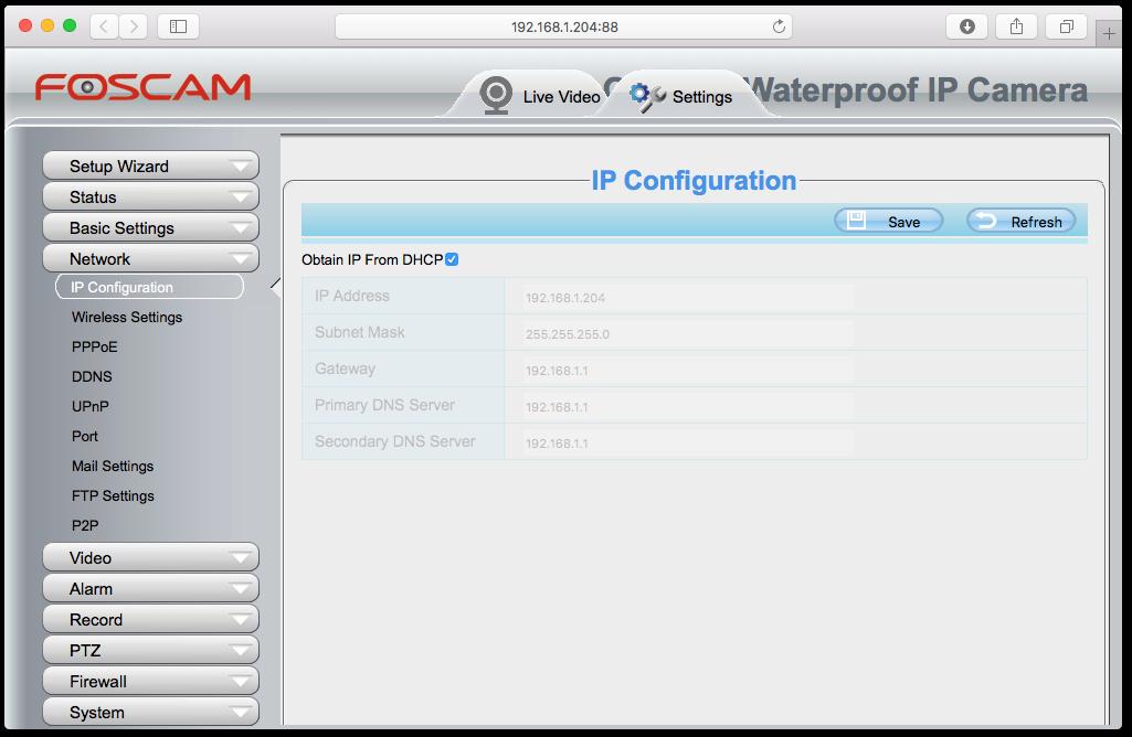 Setup Foscam Local/Remote-Foscam Pro iPhone app - Synaptic Edge
